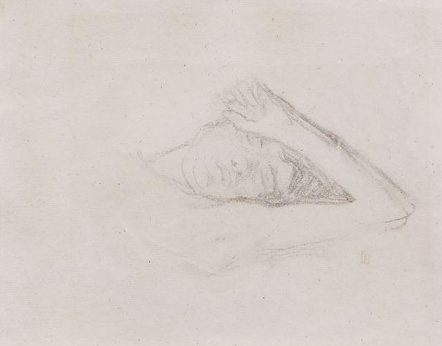Pierre BONNARD (Fontenay-aux-roses, 1867 - Le Cannet, 1947) FEMME ENDORMIE Dessin au crayon sur papier