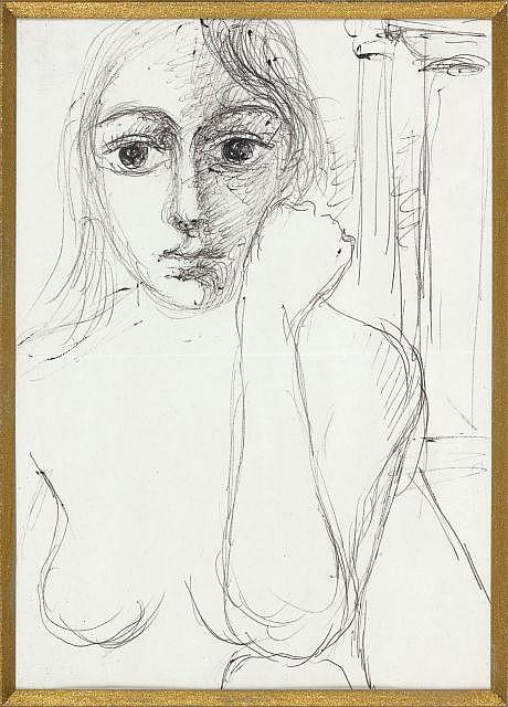 Paul DELVAUX (Antheit, 1897- Furnes, 1994) ETUDE POUR