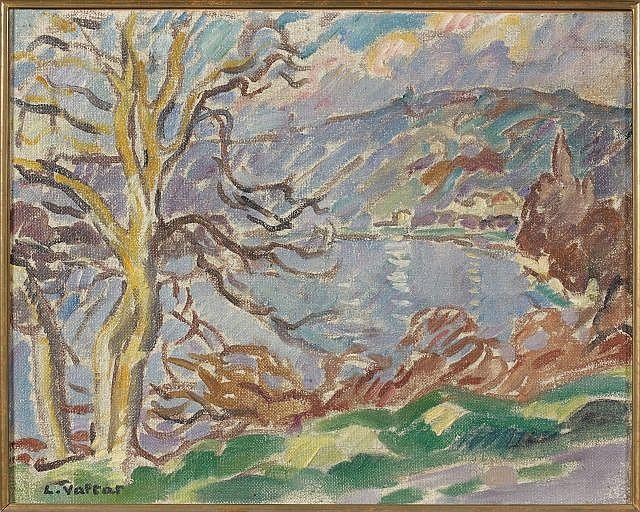 Louis VALTAT (Dieppe, 1869 - Paris, 1952) LES ANDELYS, 1914 Huile sur toile