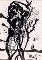 Salvador DALI (Figuères,1904 -Figuères, 1989) SAN SEBASTIAN,1975 Dessin à l'encre de Chine