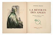 Kees van DONGEN et Anatole FRANCE  LA REVOLTE DES ANGES