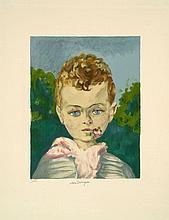 Kees VAN DONGEN (Delfshaven, 1877 - Monaco, 1968) JEAN-MARIE UNE FLEUR A LA BOUCHE, circa 1950