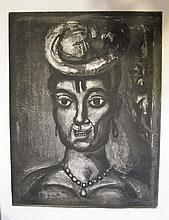 Georges ROUAULT (Paris, 1871 - Paris, 1958) FEMME AFFRANCHIE A QUATORZE HEURES CHANTE MIDI, 1923