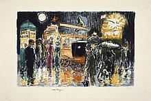Kees VAN DONGEN (Delfshaven, 1877 - Monaco, 1968) PLACE PIGALLE, LA NUIT, circa 1950