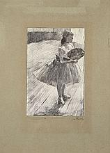 D'après Edgar DEGAS  PETITE DANSEUSE A L'EVENTAIL, circa 1890