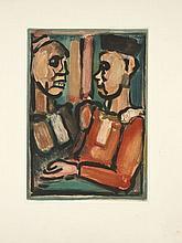 Georges ROUAULT (Paris, 1871 - Paris, 1958) ENSEMBLE DE 2 ESTAMPES