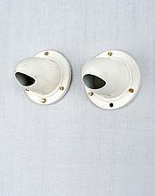 Serge MOUILLE (1922 - 1988) Rare paire de lampes