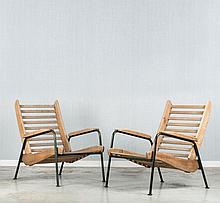 Jean PROUVE (1901 - 1984) Paire de fauteuils dits