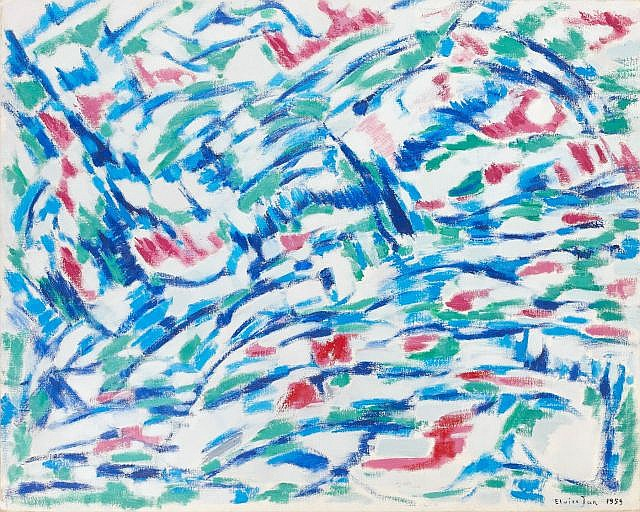 Elvire JAN (1904-1996) COMPOSITION, 1959 Huile sur toile