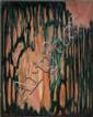 Robert HELMAN (1910-1990) FORET, 1973 Huile sur toile