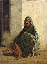 Louis Emile PINEL DE GRANDCHAMP (1831 - 1894) LA MARCHANDE D'ORANGE