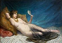 Louise LANDRÉ (1852 - ) JEUNE FEMME ALANGUIE Huile sur toile