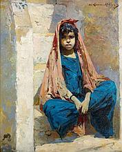 Marie-Aimée LUCAS ROBIQUET (1858 - 1959) JEUNE FILLE