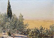 Alexandre ROUBTZOFF (1884-1949) SIDE JAB'R Huile sur toile marouflée sur carton
