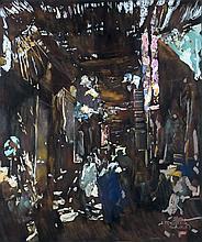 Jacques MAJORELLE (1886 - 1962) SOUK A MARRAKECH