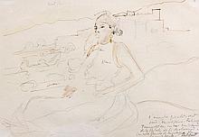 Edy LEGRAND (1892 - 1970) ETUDE POUR FATIMA