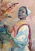 Edy LEGRAND (1892 - 1970) JEUNE FEMME AU BOUQUET