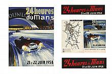 LES 24 HEURES DU MANS 1958 Michel BELIGOND (1927-1973)