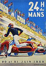 LES 24 HEURES DU MANS 1959 Michel BELIGOND (1927-1973)