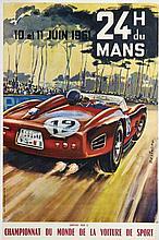 LES 24 HEURES DU MANS 1961 Michel BELIGOND (1927-1973)
