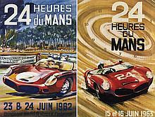 LES 24 HEURES DU MANS 1962 ET 1963  DEUX AFFICHES