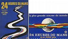 LES 24 HEURES DU MANS 1972 ET 1974, DEUX AFFICHES Jean JACQUELIN (1905-1989)