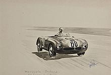 Rob ROY ( Robert Le Proux de la Rivière 1909- 1992)  Monopole Panhard 24 Heures du Mans