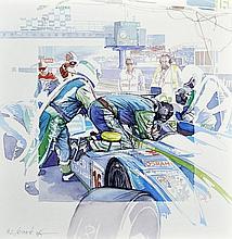 Michel LECOMTE (1935-2011)  Pescarolo n°16 au stand, 24 Heures du Mans 2008