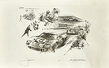 Michael TURNER (Anglais-1933)  Ford GT 40 de Jacky Ickx au Mans 1969