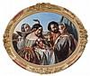 Attribué à Henri-Guillaume Schlesinger Francfort-sur-le-Main, 1814 - Neuilly-sur-Seine, 1893 Le concert Huile sur toile, de forme ov...