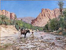 Maurice BOMPARD (Rodez ,1857 - Rodez, 1936) La rivière d'El-Kantara