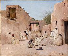 Maurice BOMPARD (Rodez, 1857 - Rodez, 1936) Une Rue de l'oasis de Chetma - 1890