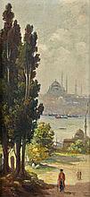Halil PASA ( dit Pacha ) (1857 - 1939) Vue de la mosquée de Suleymaniye