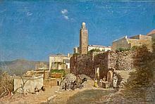 Ernest MARINIER (1855 - ?) Village marocain