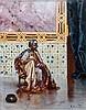 Rudolf ERNST (Vienne, 1854 - Paris, 1932) Le fumeur de chibouk