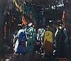 Jacques MAJORELLE (Nancy, 1886 - Paris, 1962) Souk à Marrakech