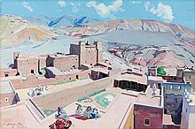 Jacques MAJORELLE (Nancy, 1886 - Paris, 1962) La kasbah de Taourirt