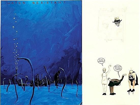 Gilles BARBIER (né en 1965) ORGUE A PET, 1996 Gouache et encre sur papier
