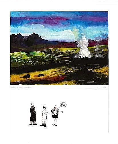 Gilles BARBIER (Né en 1965) ORGUE A PET, 1996 Gouache, collage et encre sur papier
