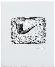 René MAGRITTE (1898- 1967) CECI N'EST PAS UNE PIPE - 1962