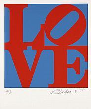 Robert INDIANA (Né en 1928) BOOK OF LOVE (Bleu et rouge) - 1996