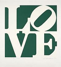 Robert INDIANA (Né en 1928) GREENPEACE LOVE - 1994