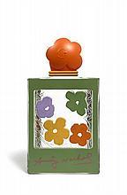 D'après Andy WARHOL (1928-1987) FLACON FLEURS Prototype d'un flacon de parfum en verre moulé