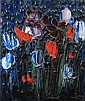 Thanos TSINGOS (1914-1965) COMPOSITION, (FLEURS), 1958 Huile sur toile