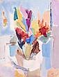 Geer VAN VELDE (Lisse, Pays-Bas, 1898-1978) BOUQUET DE FLEURS, CIRCA 1943 - COMPOSITION, 1959-60 Gouache sur papier double face