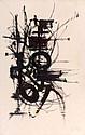 Georges MATHIEU (1921-2012) COMPOSITION, 1949 Huile sur papier marouflé sur toile