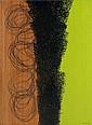 Hans HARTUNG (1904-1989) T1974-E26, 1974 Acrylique sur toile