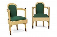Attribué à Batistin Spade (1891-1969)  Paire de fauteuils, circa 1930