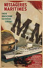Albert BRENET (1903-2005), peintre officiel de la Marine  Messageries Maritimes, Inde, Indochine, Extrême-Orient