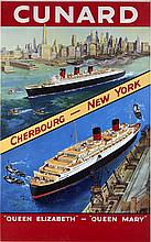 CUNARD CHERBOURG-NEW-YORK